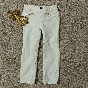 Crazy 8 girls velour pants white size 3T